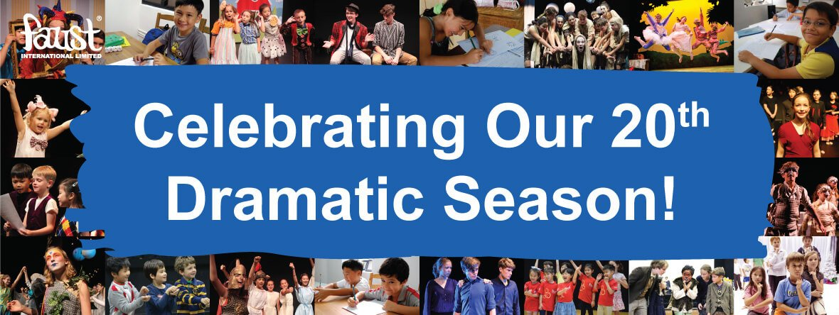 Faust International Youth Theatre's 20th season of drama and creative programmes for kids in Hong Kong